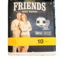 FRIENDS OVER NIGHT ADULT DIAPERS 10NOS PACK